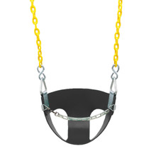 "Commercial Half Bucket Swing Seat with 8'6"" Plastisol Chain (S-144)"