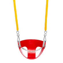 "Commercial Half Bucket Swing Seat with 5'6"" Soft Grip Chain (S-143)"