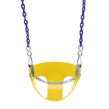 "Commercial Half Bucket Swing Seat with 5'6"" Fully Coated Chain (S-145)"