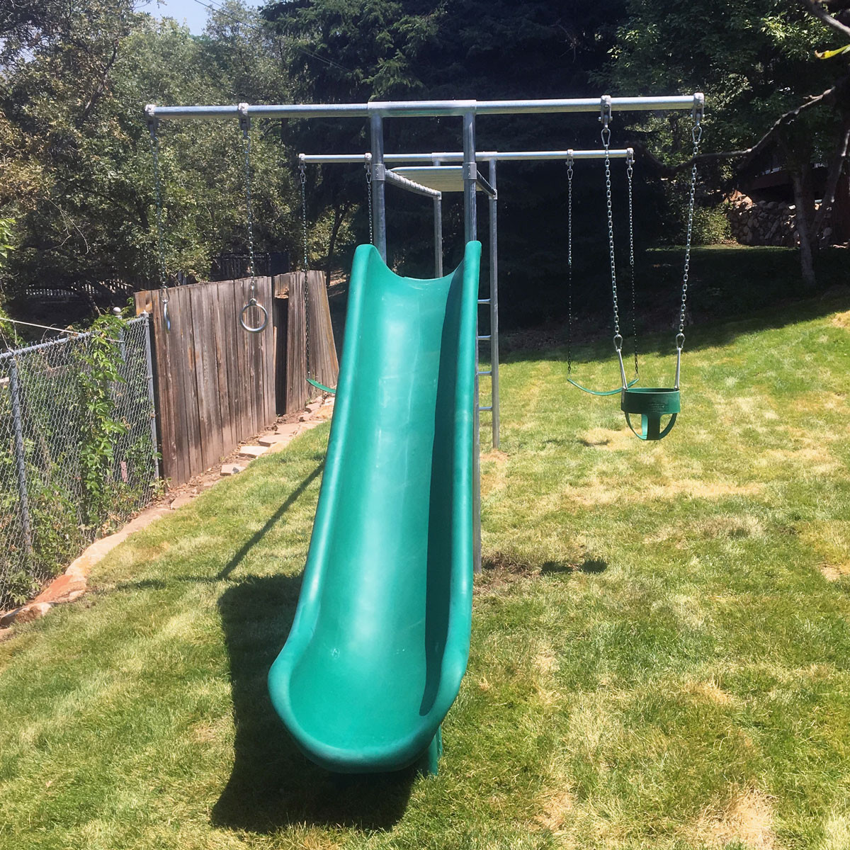 Metal Horizontal Ladder Swing Set with Slide (CP-HL55)