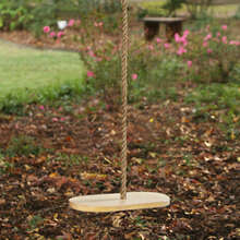 Classic Disc Hard Maple Wooden Swing with Rope (39-CDSW)