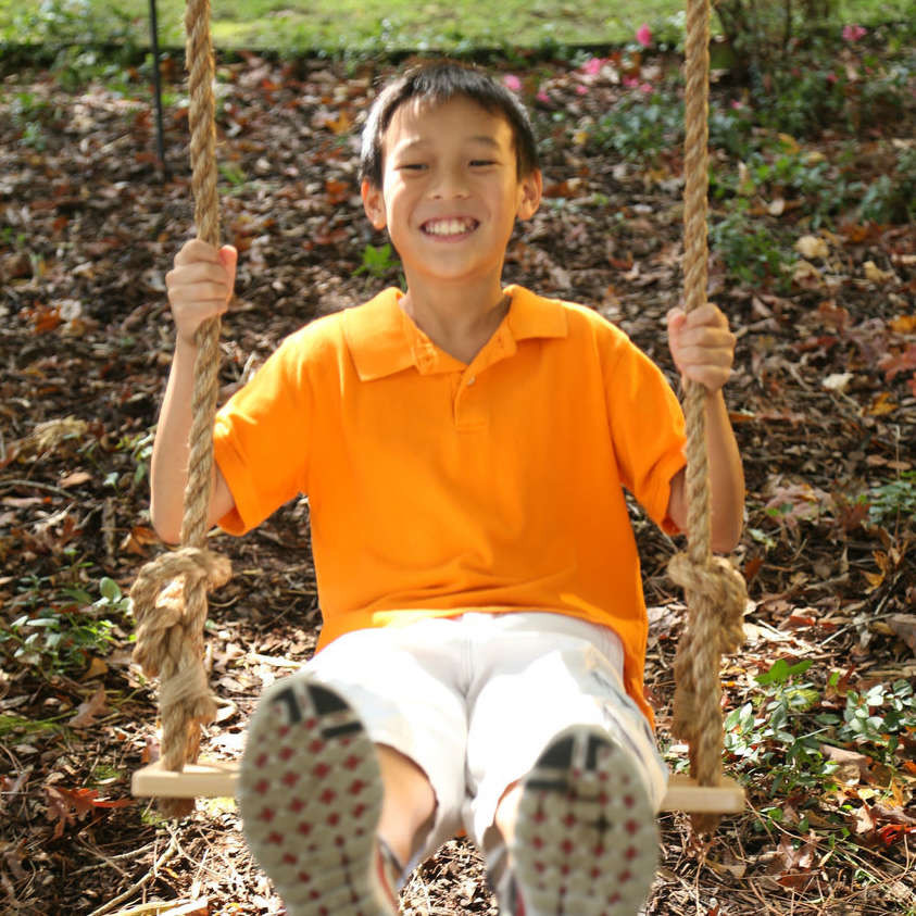 Classic Hard Maple Wooden Swing with Rope (39-CLASW)