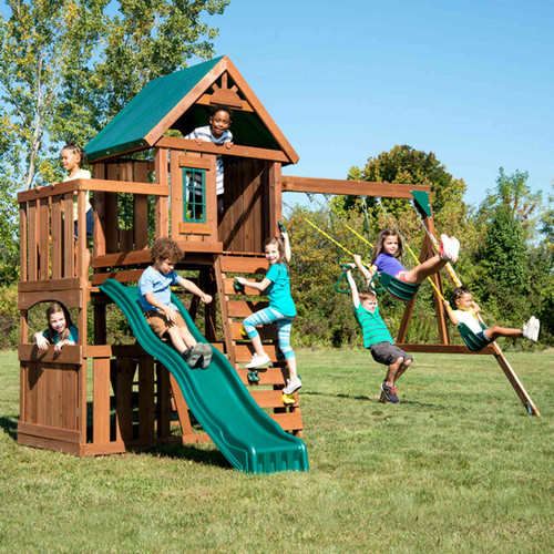 Elkhorn Complete Swing Set (WS-8357) Children Playing