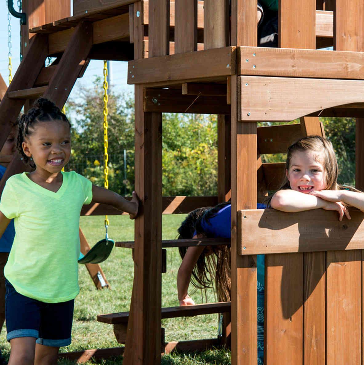 Elkhorn Complete Swing Set (WS-8357) Under deck play area