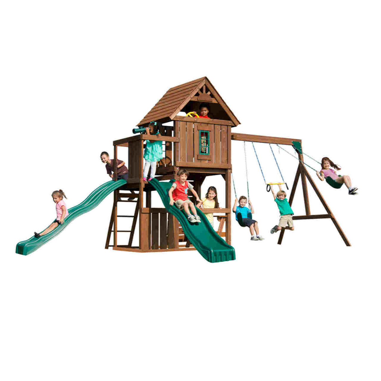 Monteagle Complete Swing Set (WS-8344) Children Playing