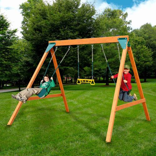 Ranger Complete Swing Set (PB-8360) Children Playing