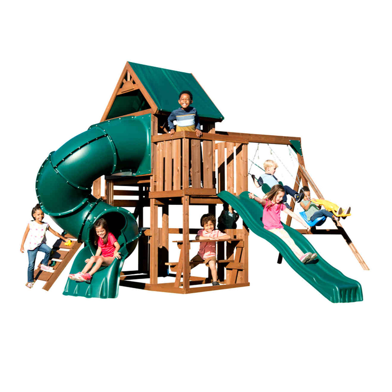 Tellico Terrace Complete Swing Set (WS-8359) Children Playing