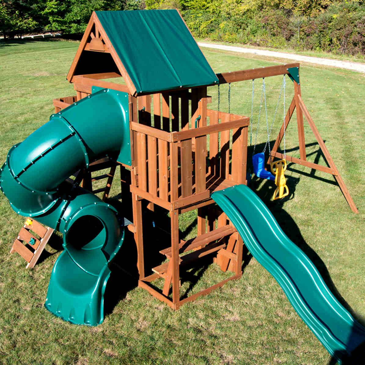Tellico Terrace Complete Swing Set (WS-8359) Aerial