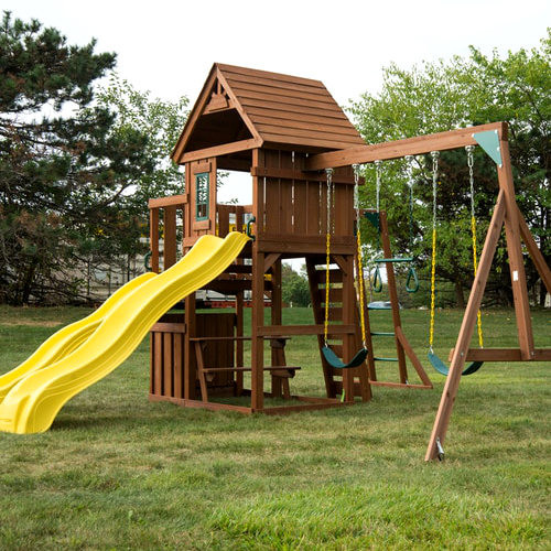 Timberview Complete Swing Set (WS-8356) side view