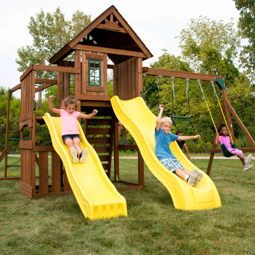 Timberview Complete Swing Set (WS-8356) Children Playing