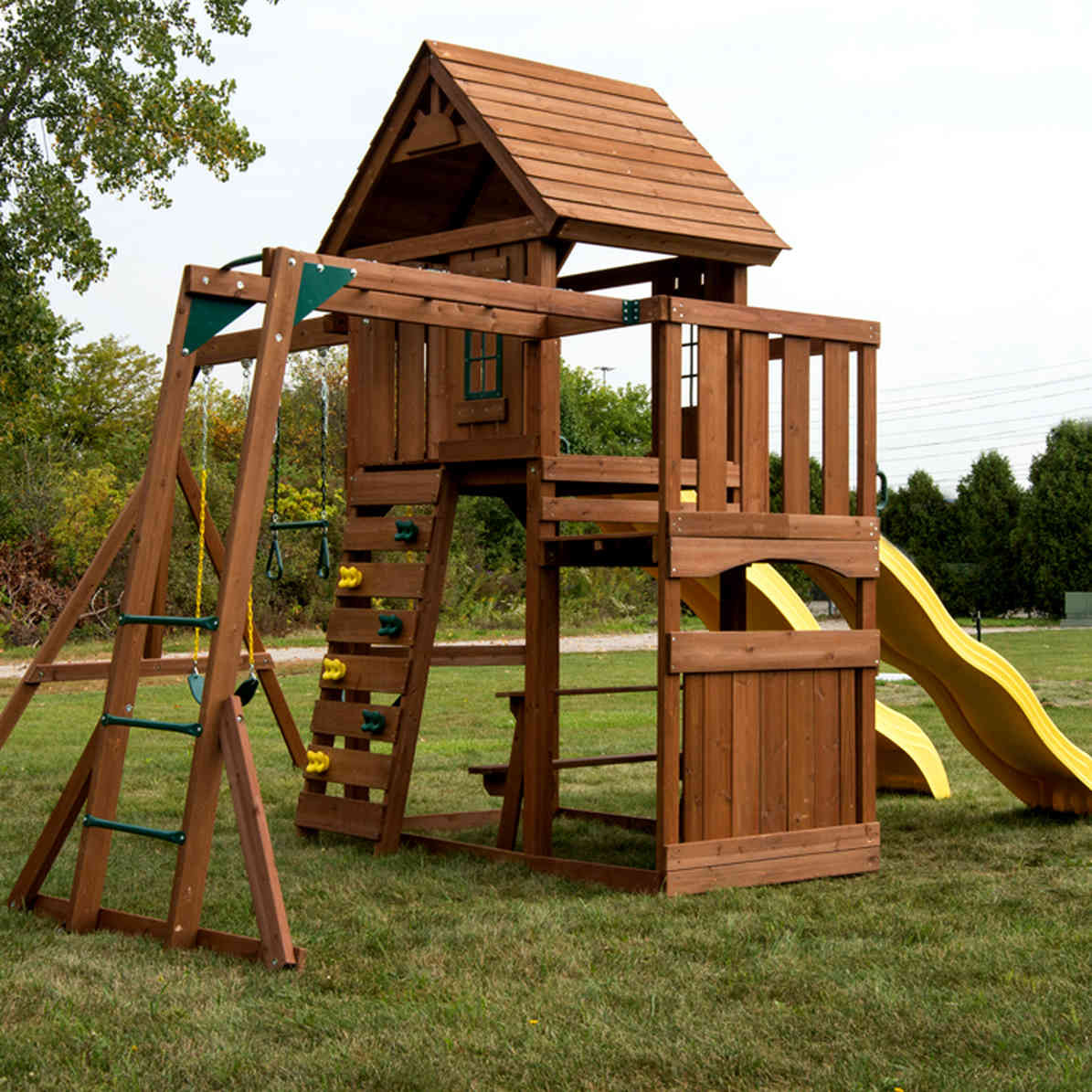 Timberview Complete Swing Set (WS-8356) back view
