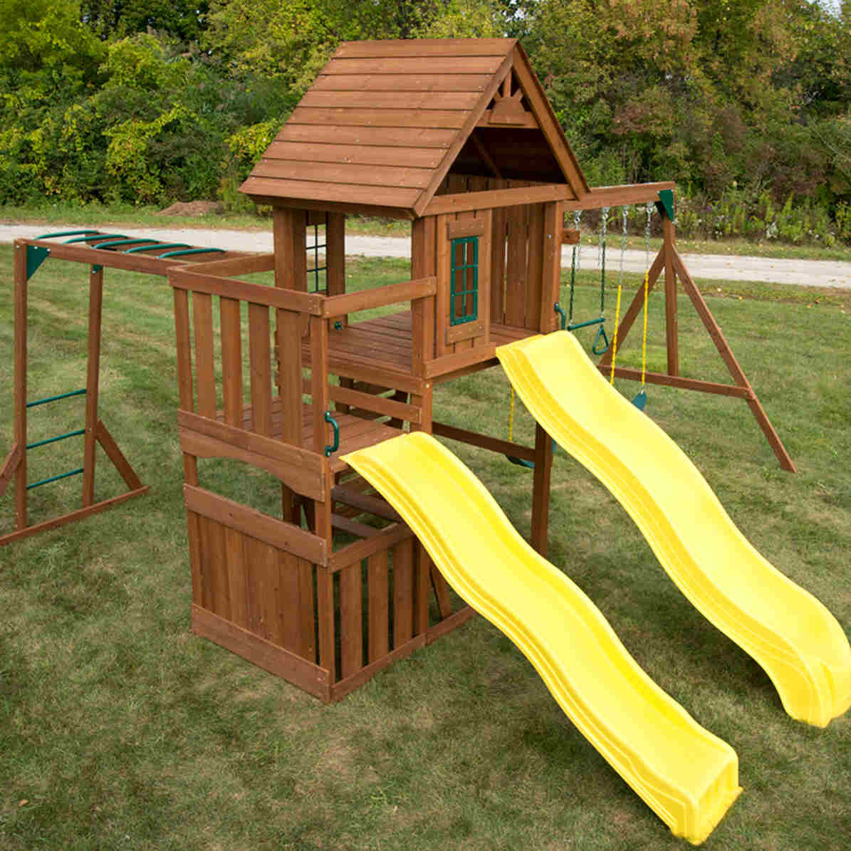 Timberview Complete Swing Set (WS-8356) Aerial View