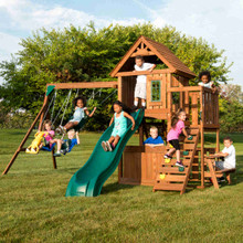 Tioga Fort Complete Swing Set (WS-8348) Children Playing