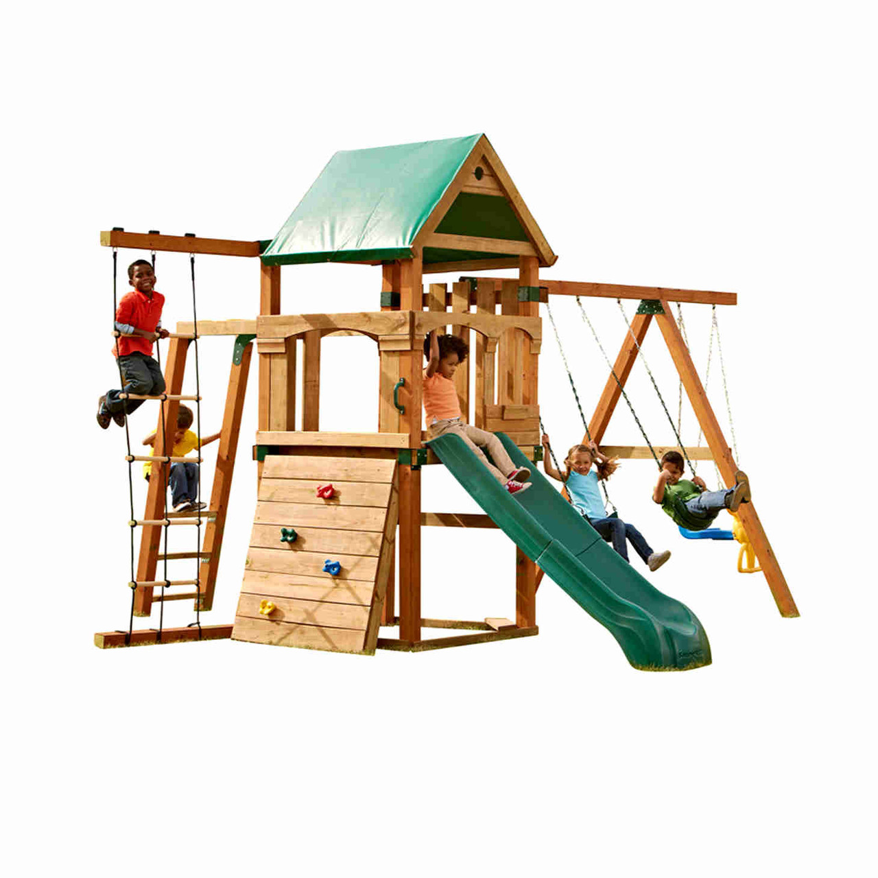 Trekker Complete Swing Set (PB-8320) Children Playing