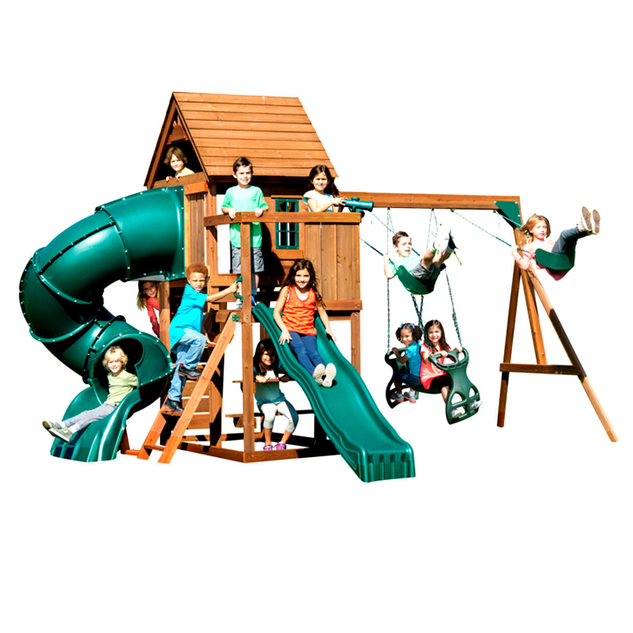 Tremont Tower Complete Swing Set (WS-8345) Children Playing