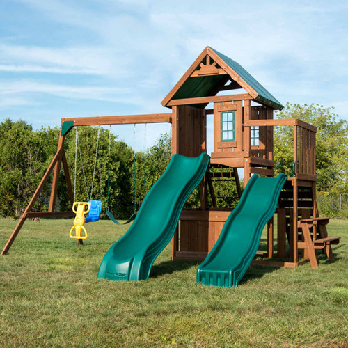 Willows Peak Deluxe Complete Swing Set (WS-8350) Front View