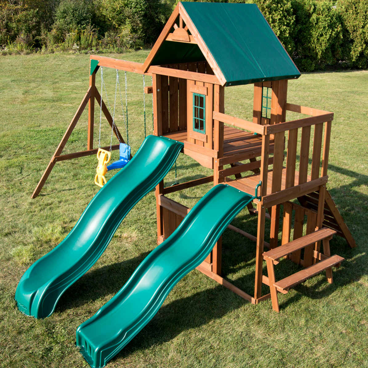 Willows Peak Deluxe Complete Swing Set (WS-8350) Aerial View