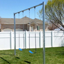 Metal Post Swing Set with 2 Swings (CP-PS20) Backyard