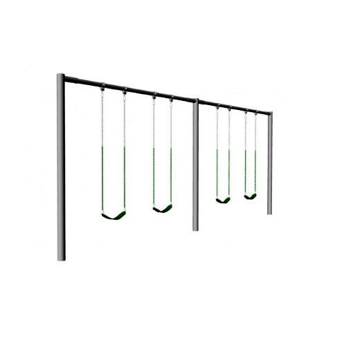 Metal Post Swing Set with 4 Swings (CP-PS40)- render