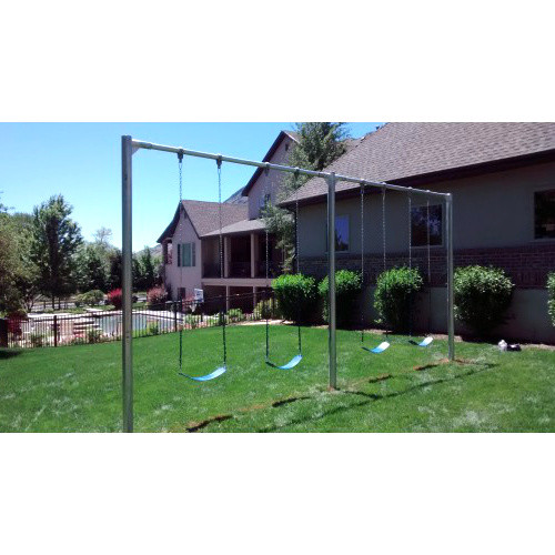Metal Post Swing Set with 4 Swings (CP-PS40) - Belt Seats