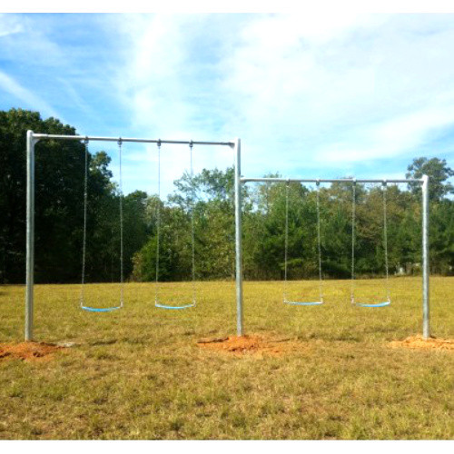 Metal Post Swing Set with Multi-Height Beams (CP-PS30) - Lifestyle