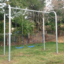 Arch Frame Swing Set (3 Swings) (CP-AR30) Angled View