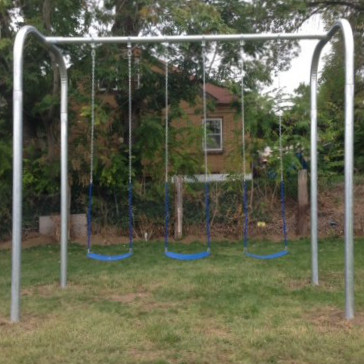 Arch Frame Swing Set (3 Swings) (CP-AR30) Front View