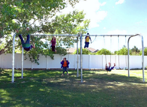 Arch Frame Swing Set with 6 Swings (CP-AR60) - Lifestyle
