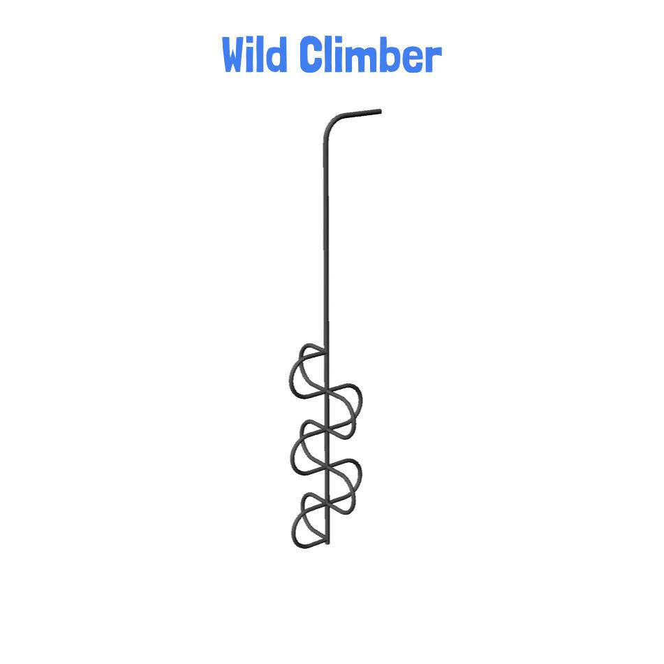 Wild Climber - Metal Playhouse Swing Set with 2 Swings