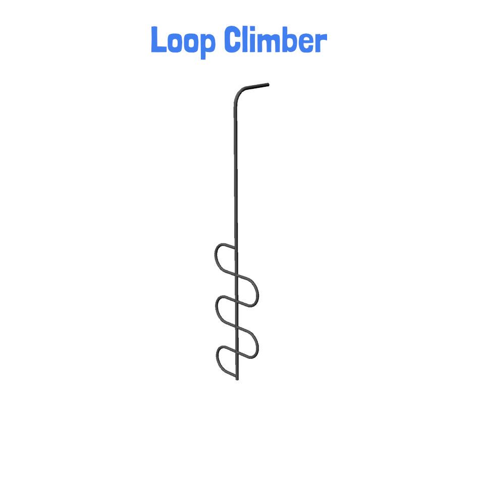 Loop Climber - Metal Playhouse Swing Set with 2 Swings