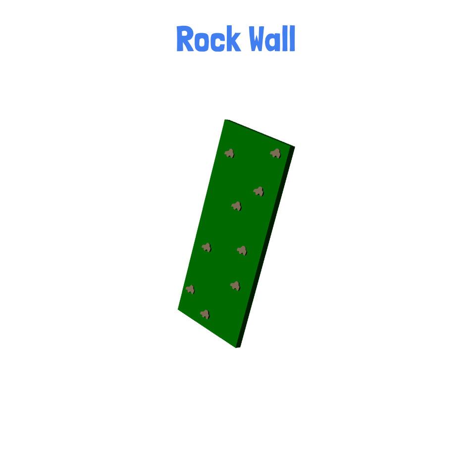 Rock Wall - Metal Playhouse Swing Set with 2 Swings