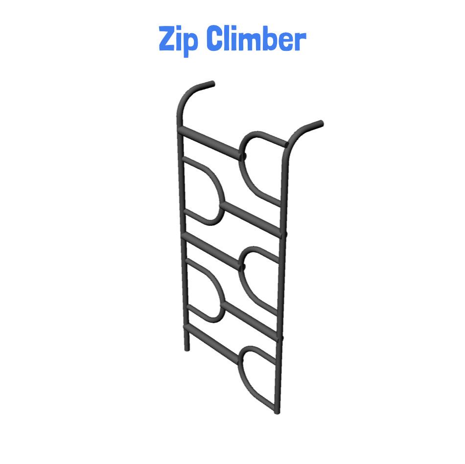 Zip Climber -  Metal Playhouse Swing Set with Monkey Bars (4 Swings) (CP-PH45)