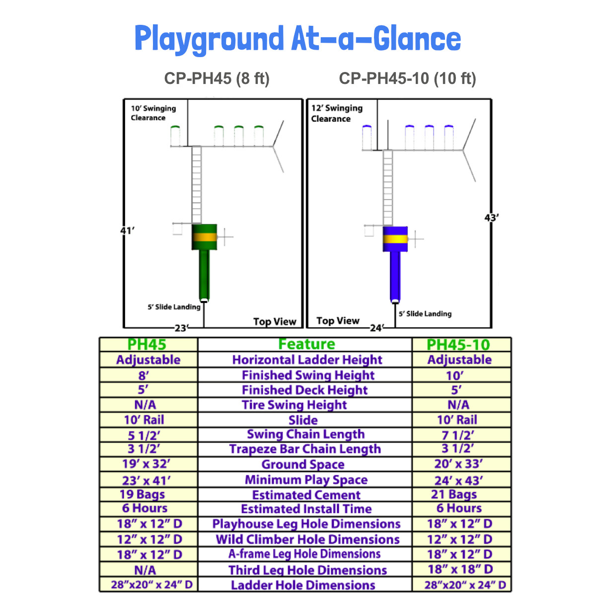 Metal Playhouse Swing Set with Monkey Bars (4 Swings) (CP-PH45)