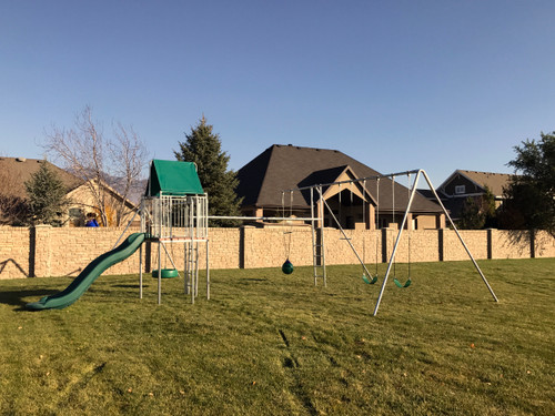 Ultimate Metal Playhouse Swing Set (CP-PH47)