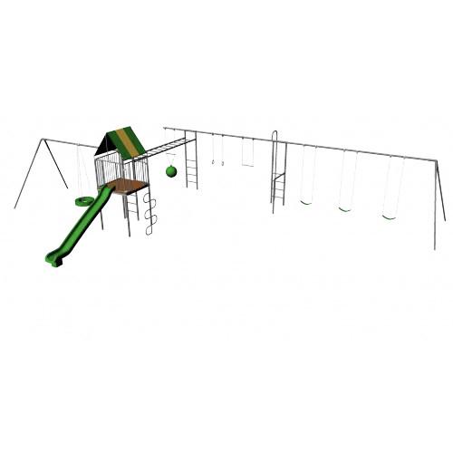 Ultimate Metal Playhouse Swing Set (CP-PH52)