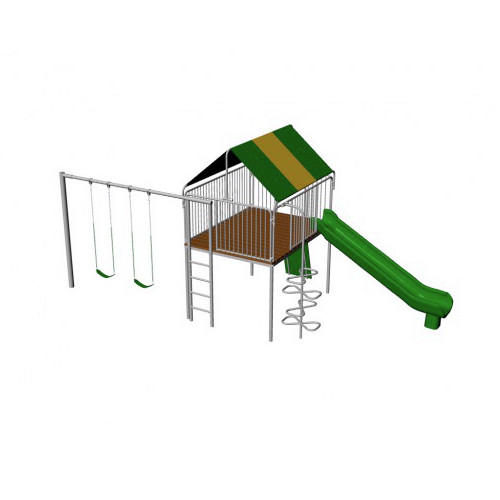 Metal Clubhouse Swing Set (CP-CH20) Render