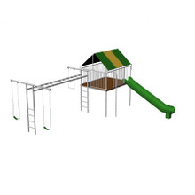 Metal Clubhouse Swing Set (CP-CH35)