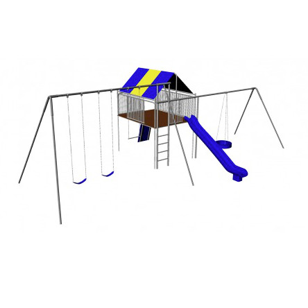 Supreme Metal Clubhouse Swing Set (CP-CH44) Render
