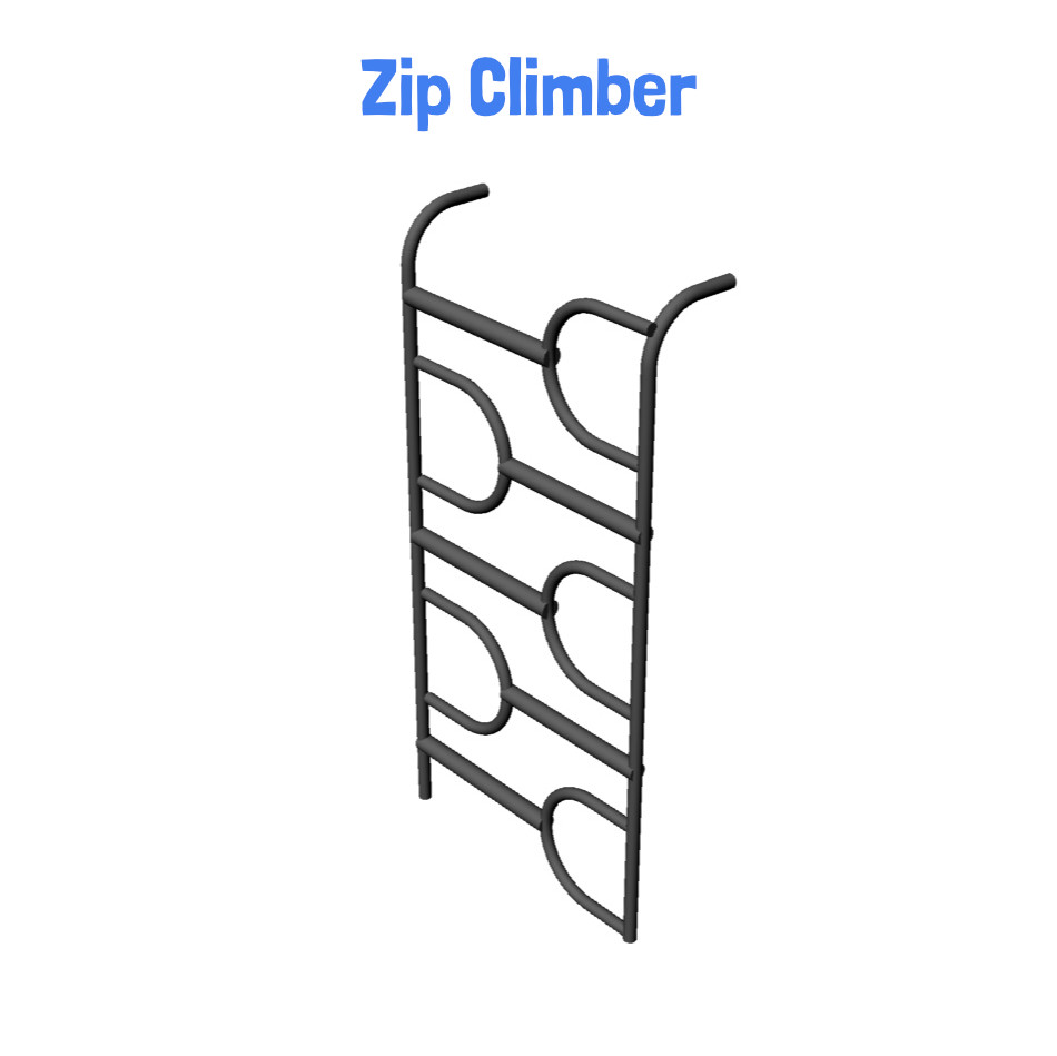 Zip Climber - Metal Clubhouse Swing Set with 2 Swings
