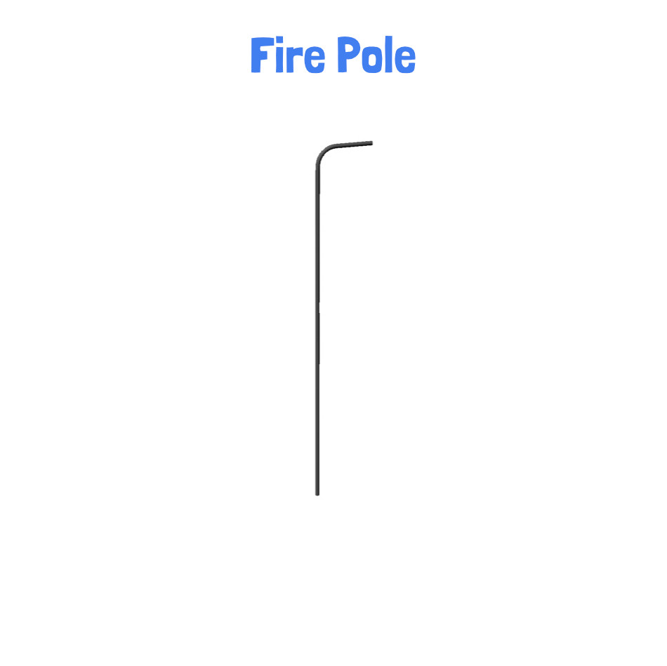 Fire Pole -Metal Clubhouse Swing Set with 2 Swings