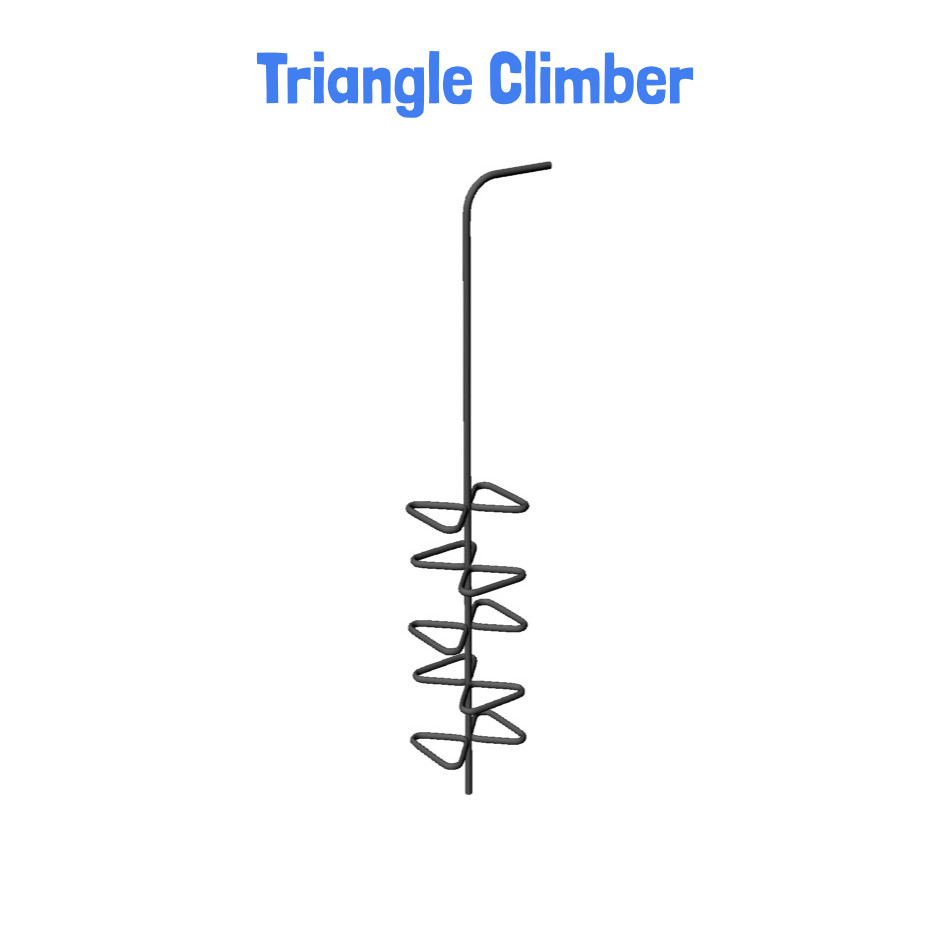 Triangle Climber - Metal Clubhouse Swing Set with 2 Swings