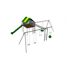 Supreme Metal Clubhouse Swing Set (CP-CH47) - Render