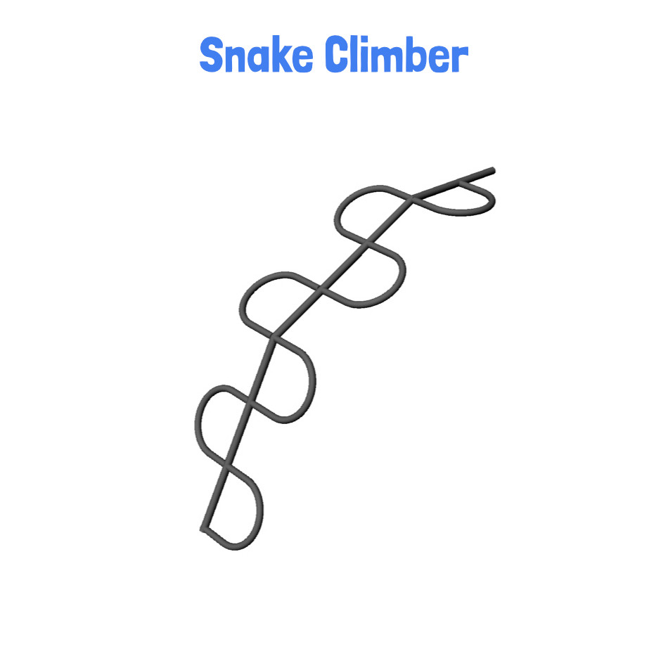 Snake Climber - Metal Clubhouse with Slides (CP-CH25)