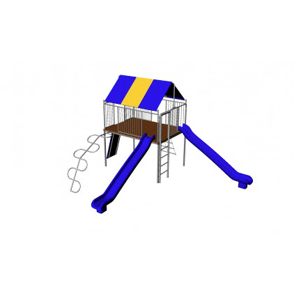 Metal Clubhouse with Slides (CP-CH25)