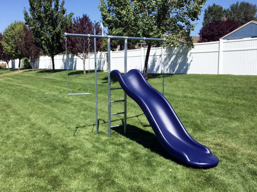 Metal Starter Swing Set with Slide (CP-ST30)