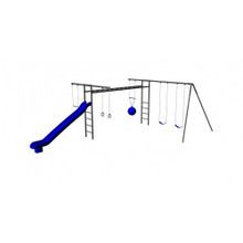 Metal Super Swing Set with Slide (CP- SS31)