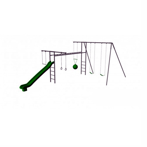 Metal Super Swing Set with Slide (CP-SS31)