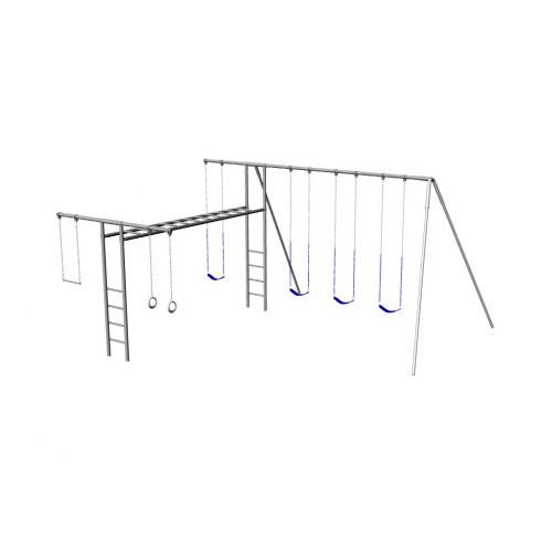 Metal Super Swing Set with 4 Swings (CP-SS36)
