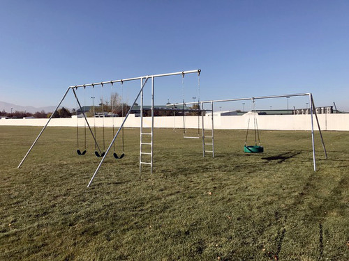Metal Super Swing Set with Tire Swing (CP-SS47)