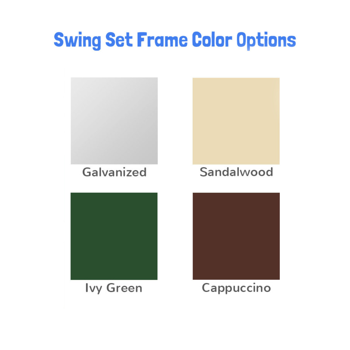 Swing Set Frame Color Chart